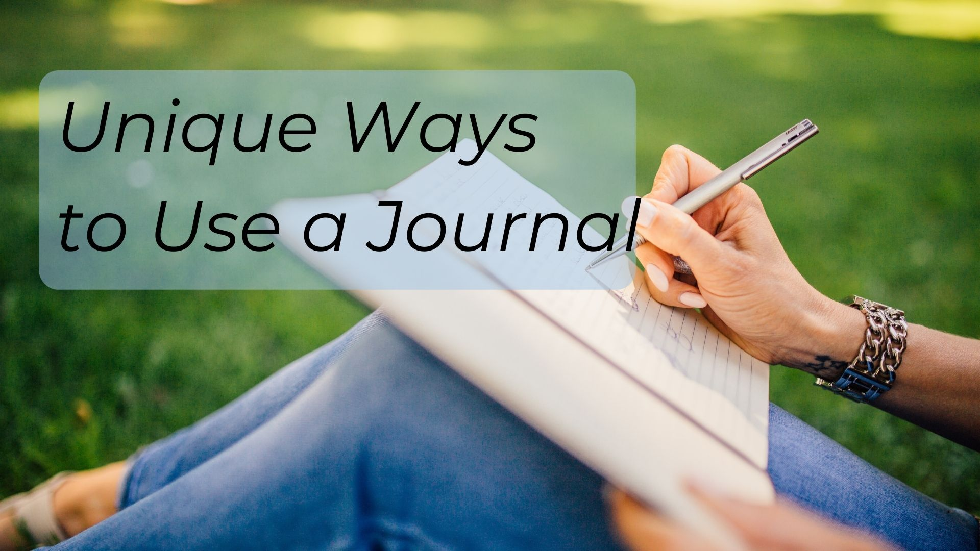 unique ways to use a journal
