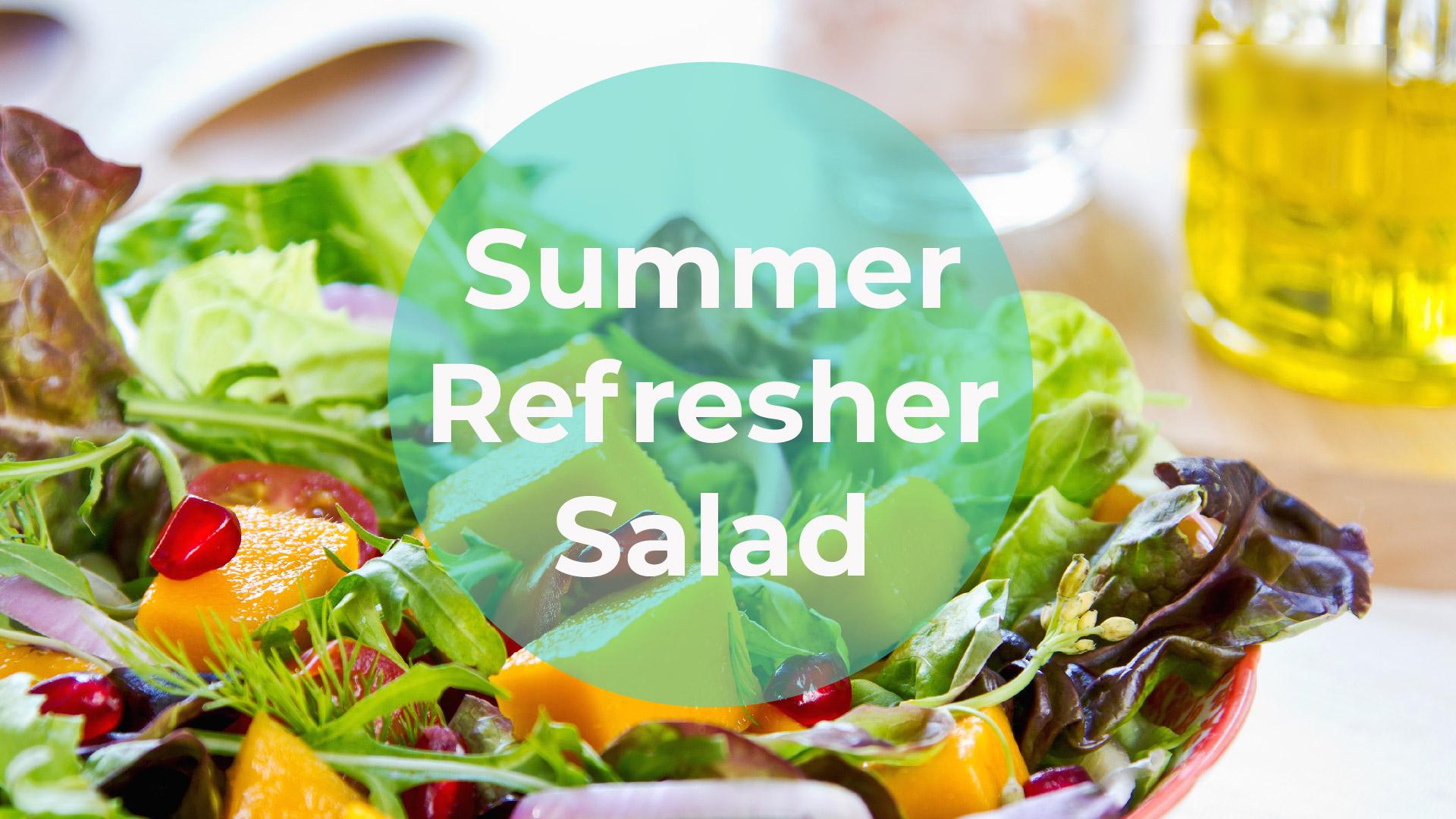 strawberry mango summer refresher salad